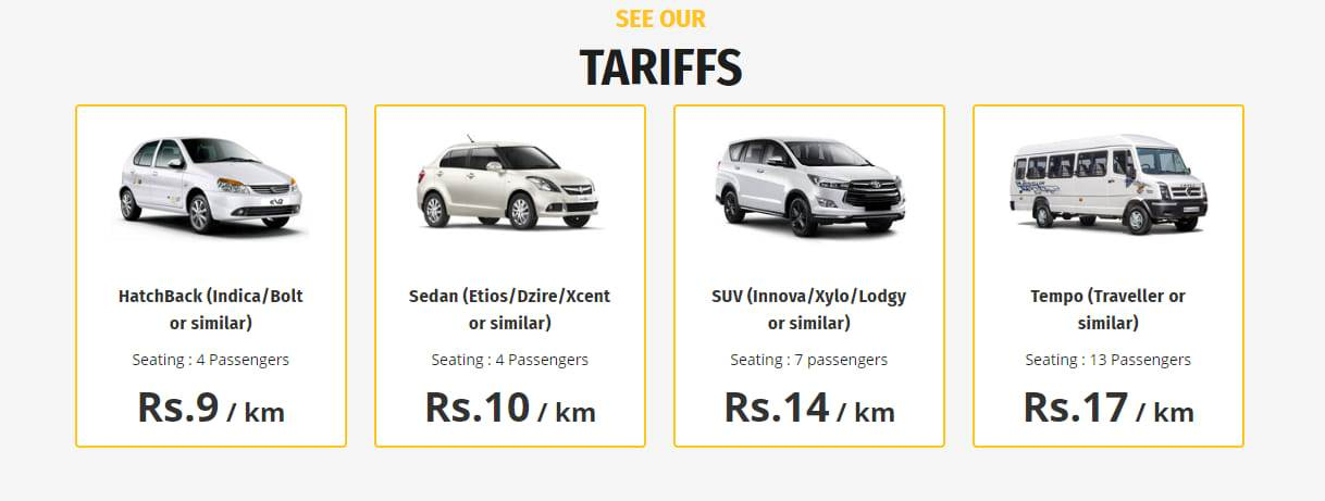 Taxi Fare in Jaipur